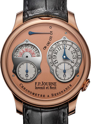 chronometre a resonance 24 hour or pink leather F.P.Journe Souveraine