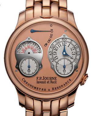 F.P.Journe Souveraine chronometre a resonance 24 hour or pink