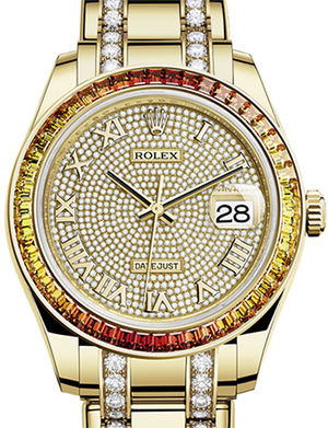 86348SAJOR paved with 455 diamonds Rolex Pearlmaster