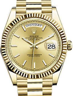 228238 Champagne Rolex Day-Date 40