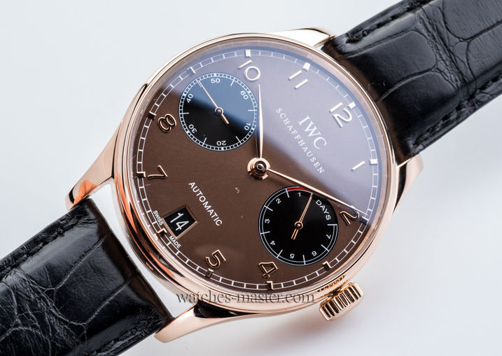 IW500124 IWC часы 7 Day Power Reserve Automatic Rose Gold