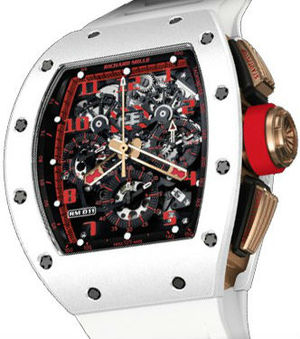 Richard Mille Mens collectoin RM 001-050 RM 011 Flyback Chronograph White Demon