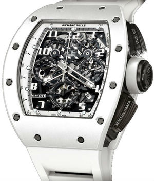 Richard Mille Mens collectoin RM 001-050 RM 011 Flyback Chronograph White Ghost