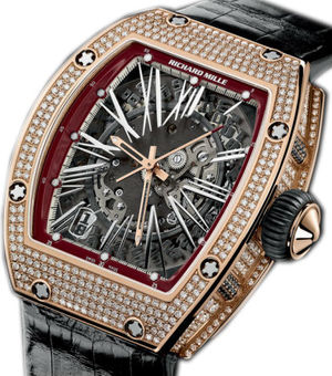 RM 023 Red Gold Diamonds Richard Mille RM Womens collection