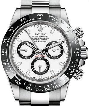 116500LN white dial Rolex Cosmograph Daytona