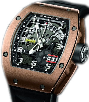 RM 029 Rose Gold Automatic with Oversize Date Richard Mille Mens collectoin RM 001-050
