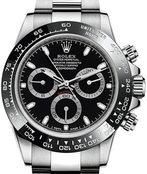 116500LN black dial Rolex Cosmograph Daytona