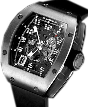 Richard Mille Mens collectoin RM 001-050 RM 010 Skeletonized Automatic Titanium