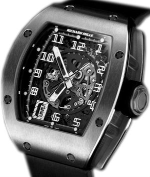 RM 010 Skeletonized Automatic White Gold Richard Mille Mens collectoin RM 001-050