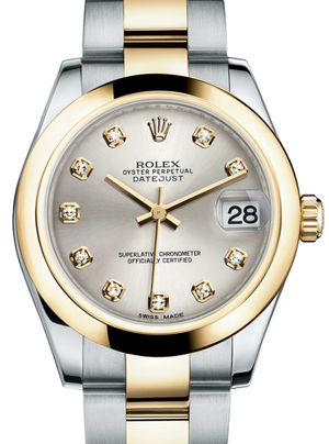 Rolex Datejust 31 178243 Silver diamonds dial Oyster