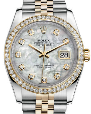 116243 mother of pearl diamond dial Jubilee Rolex Datejust 36