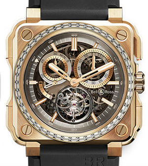Bell & Ross BR-X1 BR-X1 Tourbillon Rose Gold diamonds