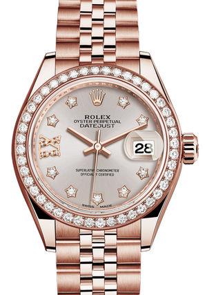 279135RBR Sundust set with diamonds Rolex Lady-Datejust 28