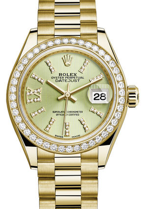 Rolex Lady-Datejust 28 279138RBR Linden set with diamonds