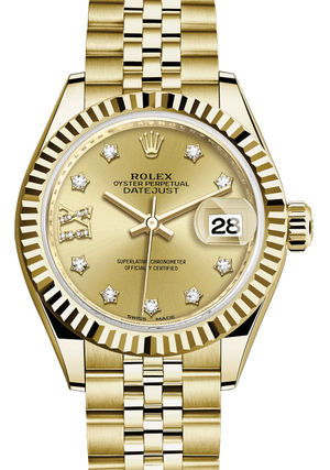 Rolex Lady-Datejust 28 279178 Champagne set with diamonds