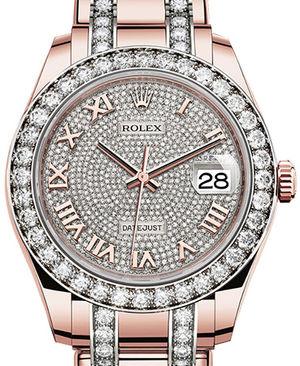86285 Diamond-paved dial Diamond-set Pearlmaster Rolex Pearlmaster