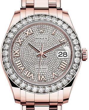 86285 Diamond-paved dial  Rolex Pearlmaster