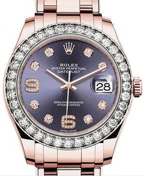 86285 Aubergine set with diamonds dial Rolex Pearlmaster