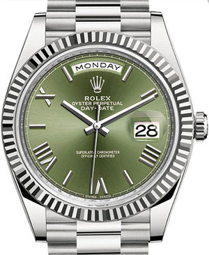 228239 Olive green dial Rolex Day-Date 40