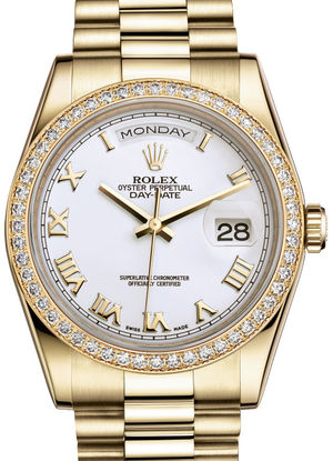 Rolex Day-Date 36 118348 White Roman dial