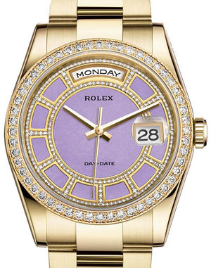 Rolex Day-Date 36 118348 Carousel of lavender jade dial