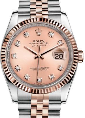 Rolex Datejust 36 116231 pink diamond dial Jubilee