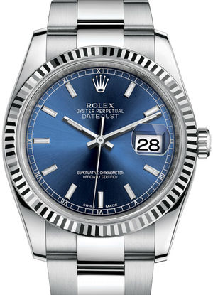Rolex Datejust 36 116234 Blue dial stick hour markers