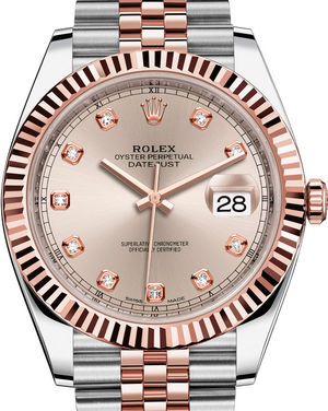 126331 Sundust set with diamonds Jubilee Bracelet Rolex Datejust 41