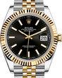 Rolex Datejust 41 126333 Black Jubilee Bracelet
