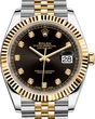 Rolex Datejust 41 126333 Black set with diamonds Jubilee Bracelet