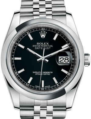 Rolex Datejust 36 116200 Black index Jubilee Bracelet