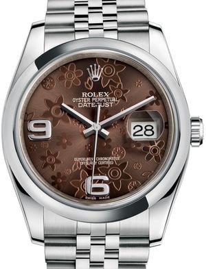Rolex Datejust 36 116200 Bronze floral motif Jubilee Bracelet