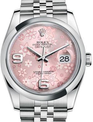 Rolex Datejust 36 116200 Pink floral motif Jubilee Bracelet