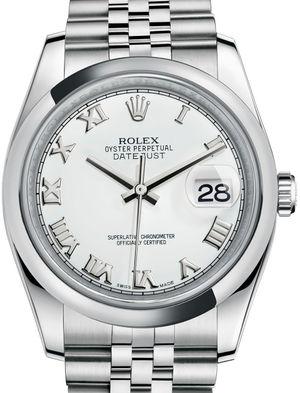 116200 White Roman Jubilee Bracelet Rolex Datejust 36