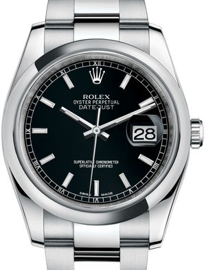 Rolex Datejust 36 116200 Black index Oyster Bracelet