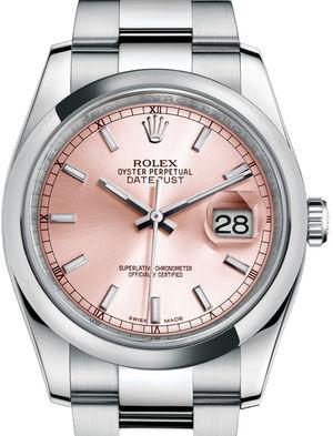 116200 Pink index Oyster Bracelet Rolex Datejust 36