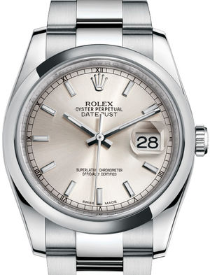 Rolex Datejust 36 116200 Silver index Oyster Bracelet