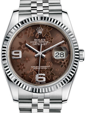 Rolex Datejust 36 116234 Bronze floral motif Jubilee Bracelet