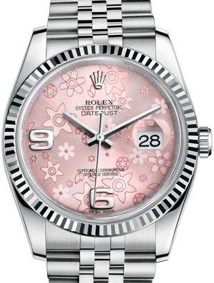 Rolex Datejust 36 116234 Pink floral motif Jubilee Bracelet