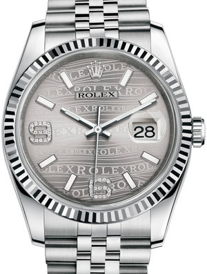 Rolex Datejust 36 116234 Rhodium waves Jubilee Bracelet