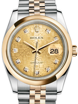 116203 Champagne Jubilee design diamonds Jubilee Rolex Datejust 36