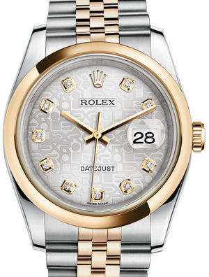 116203 Silver Jubilee design diamonds Jubilee Rolex Datejust 36