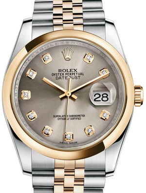 116203 Steel set with diamonds Jubilee Bracelet Rolex Datejust 36