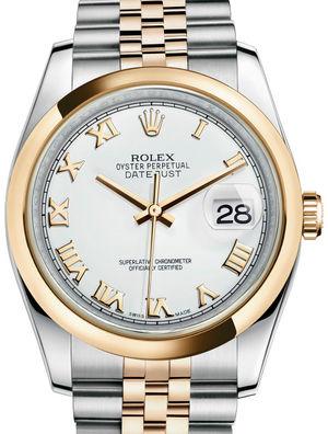 Rolex Datejust 36 116203 White Roman Jubilee Bracelet