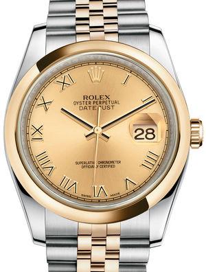 116203 Champagne Roman Jubilee Bracelet Rolex Datejust 36