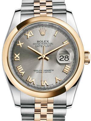 116203 Steel Roman Jubilee Bracelet Rolex Datejust 36