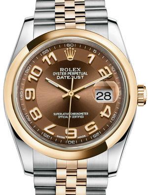 Rolex Datejust 36 116203 Bronze Arabic Jubilee Bracelet