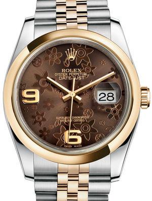 Rolex Datejust 36 116203 Bronze floral motif Jubilee Bracelet