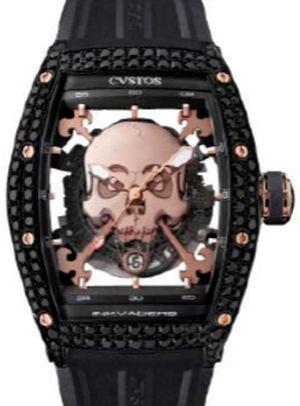 Inkvaders Skull Black Steel Red Gold 5N Black Diam Cvstos Challenge Jet-Liner Inkvaders Skull