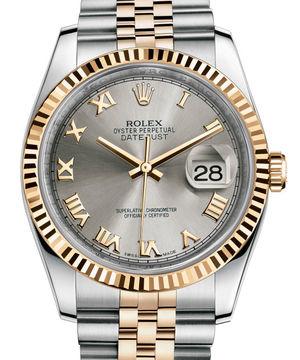 116233 Steel Roman dial Jubilee Rolex Datejust 36
